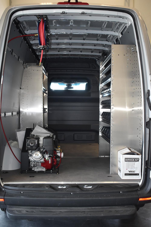 VanBuilders van upfit with Ranger products