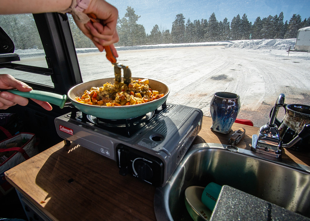 Sprinter Basecamp 4 Van winter camping