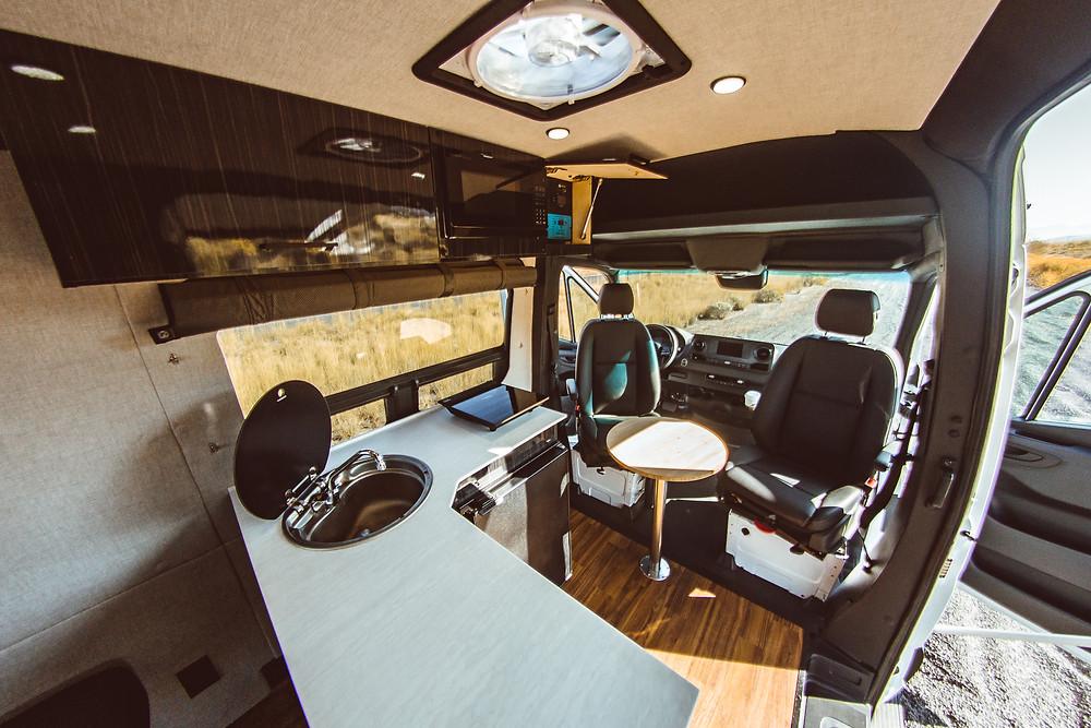 Sprinter Utah Camper Van Rental Designed by VanBuilders