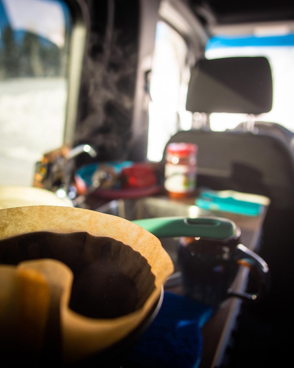 Sprinter Utah Basecamp 4 winter camping