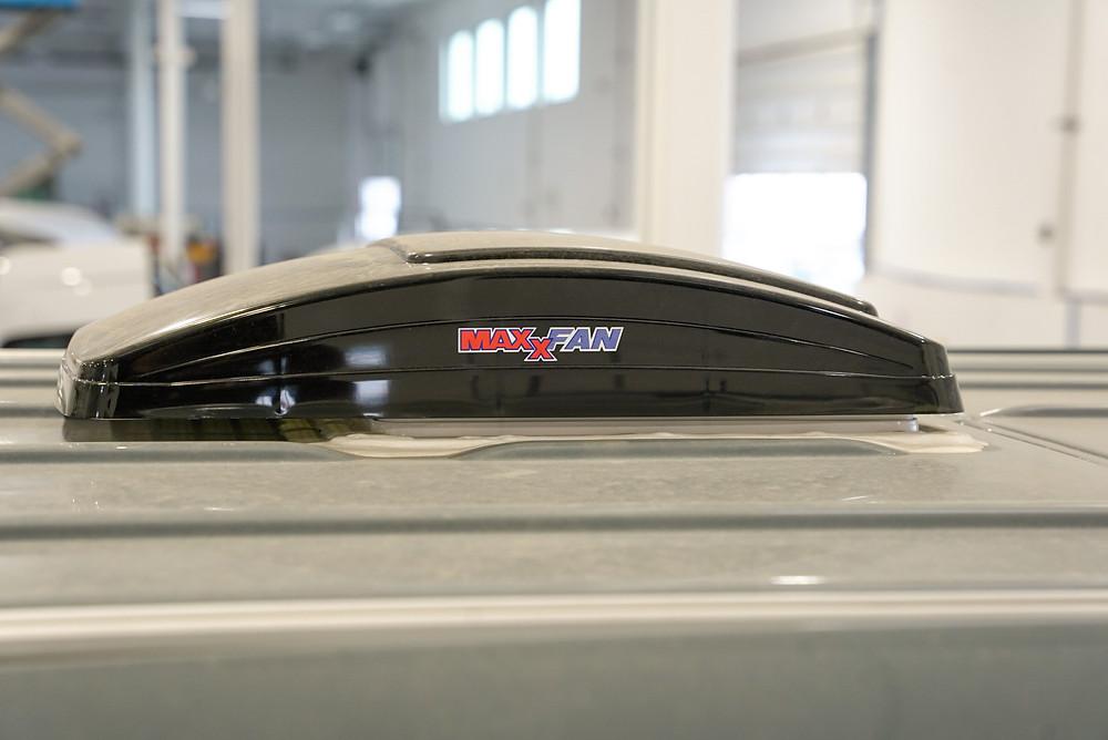 MaxxAir Fan for Sprinter Vanbuilders upfit