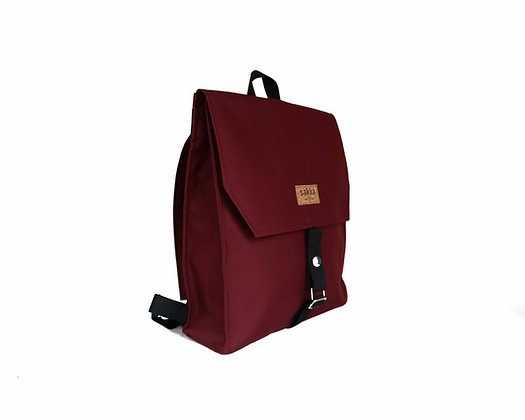 Burgundy Cordura,Mica Flap Backpack