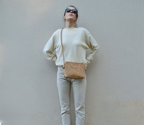 Natural Cork,ARC Zipper Clutch bag