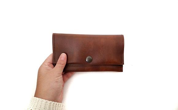Brown long wallet
