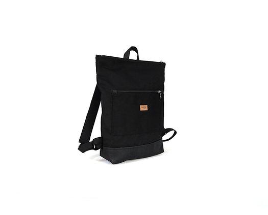 Black Canvas & Cork,Lasal Zipper Backpack