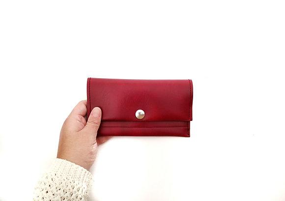 Burgundy long wallet