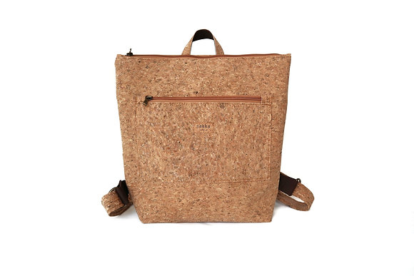 Cork Zipper Backpack