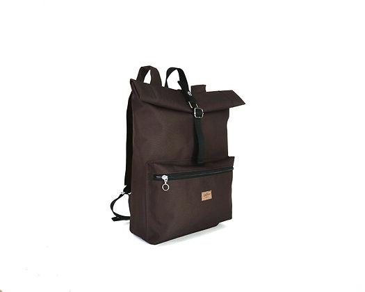 Brown Cordura,Kira Roll Top Backpack