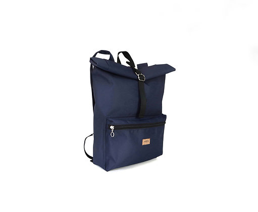 Blue Cordura,Kira Roll Top Backpack