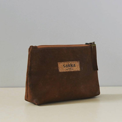 Brown Cork,ARC Zipper Clutch bag