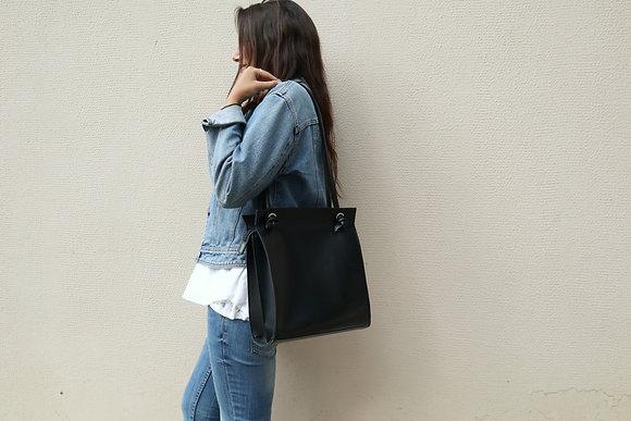 Black, Knots shoulder bag