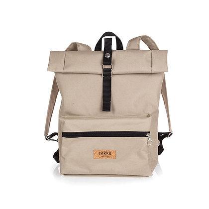 Beige Cordura,Kira Roll Top Backpack
