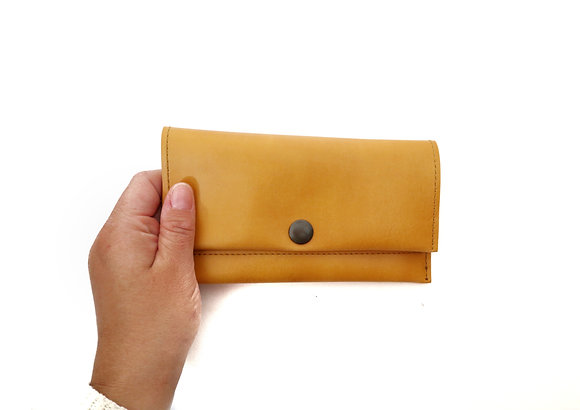 Mustard yellow long wallet