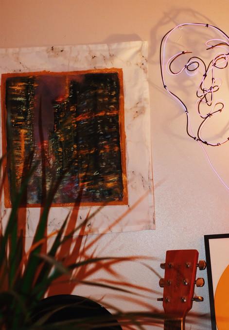 NYC Rain wall art