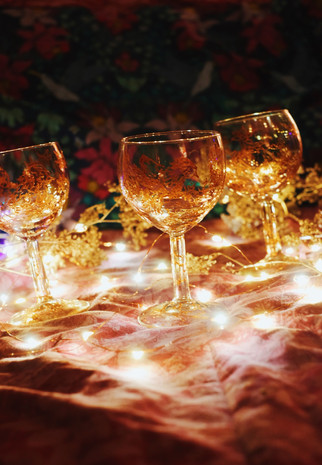 Winter wine glass collection