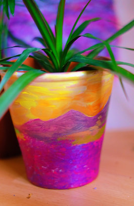 Lavender Field Pot