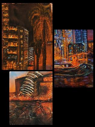 The Sunset City Print Set