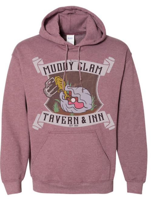 Plunge Muddy Clam Hoodie - Maroon