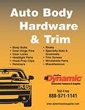 Cover Dynamc Auto Body Hardware Catalog.