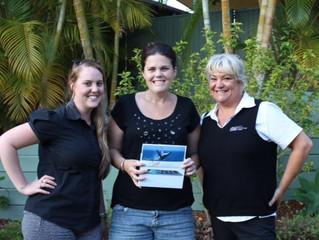 Cricks team helps Tara Deacon from Currimundi