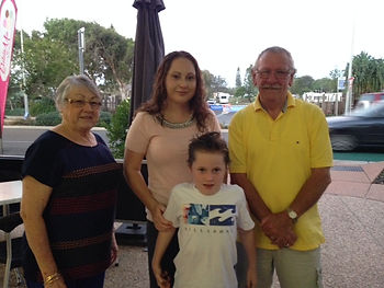 Maree and her son with Geoff and his wife