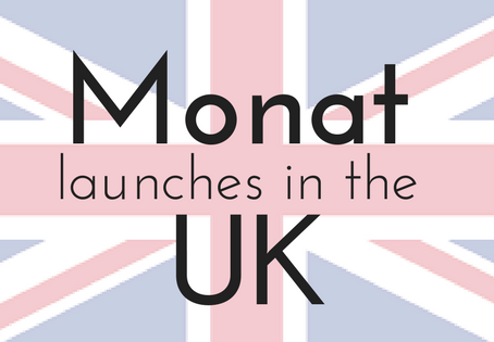 Monat launches in the UK