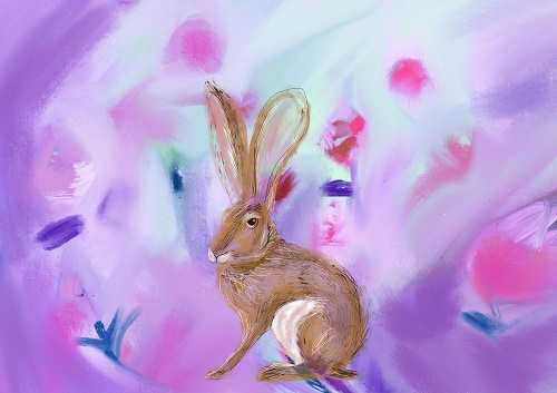 Hare print for kids