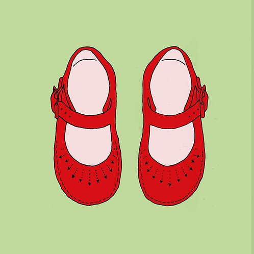 Red Shoes print for children's rooms