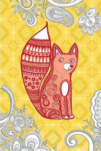 sweet fox print for children's rooms