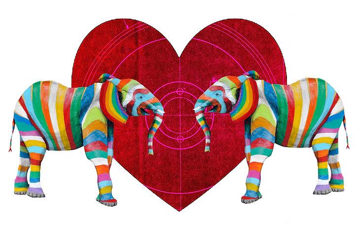 Heart Elephant by Raph Thomas