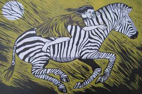 Zebra Race by Teresa Winchester