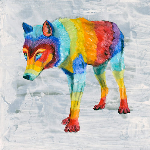 Rainbow Wolf 1 by Raph Thomas