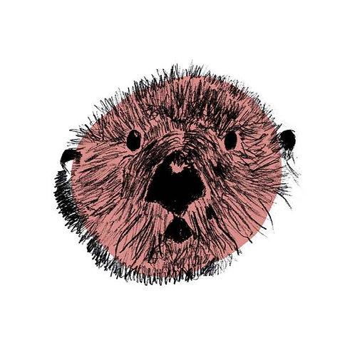 Otter art print for children's rooms