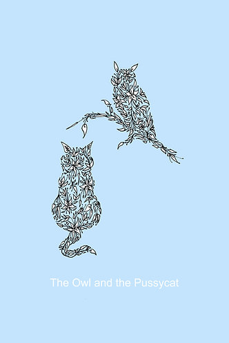 Owl and the Pussycat (blue) by Lynn Selwyn-Reeves