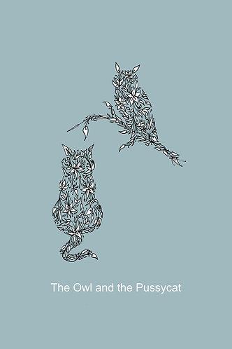 Owl & the Pussycat (duck egg) by Lynn Selwyn-Reeves