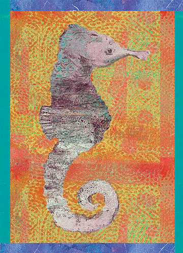 Seahorse prints for kids rooms
