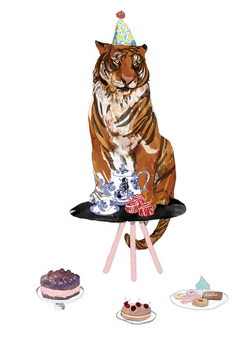 The Tiger who came to tea print