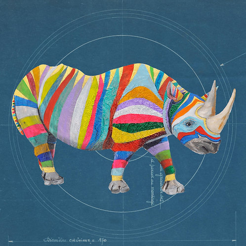 Square Rhino on Blueprint by Raph Thomas