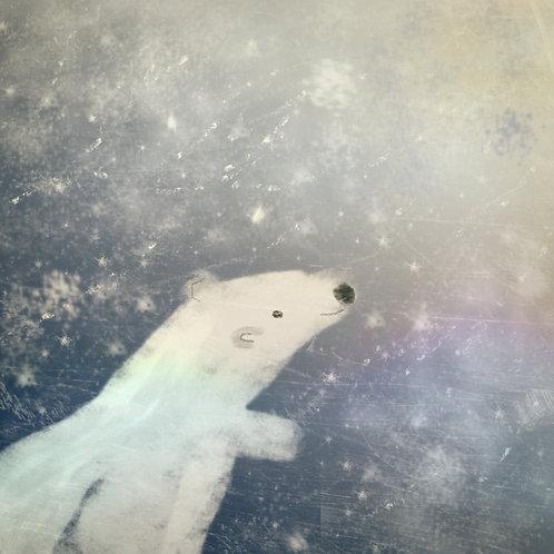 Polar bear art for kids rooms