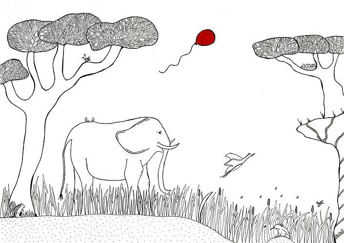 LeeLee Loves Africa - The Elephants Walk by Leeanne Grassnick