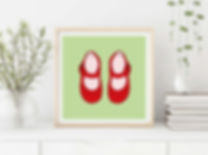 Red shoes print