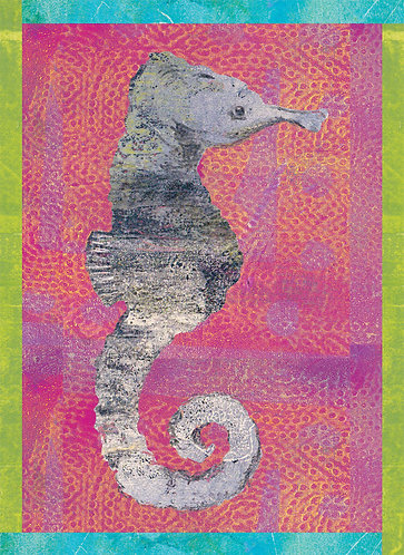 Seahorse print for children