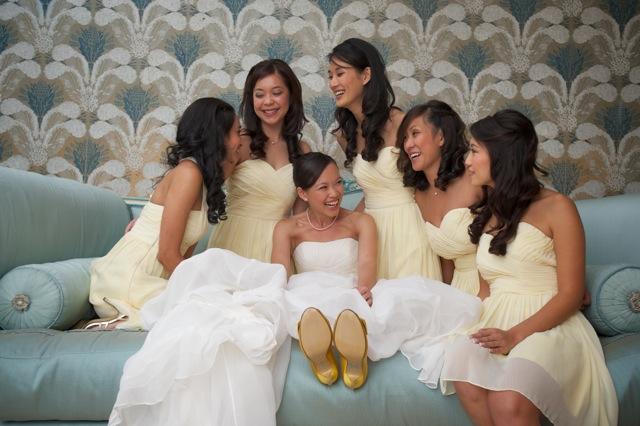 Cindy Leung and bridesmaids
