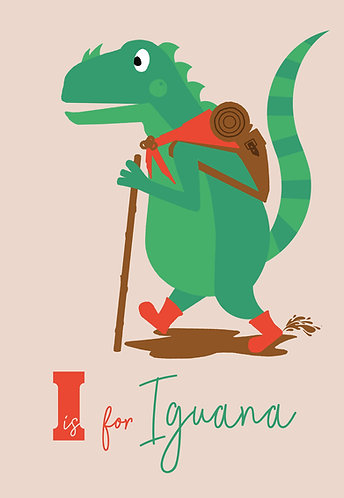 I is for Iguana by Madeline Meckiffe