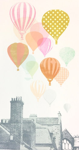 hot air balloon print for children