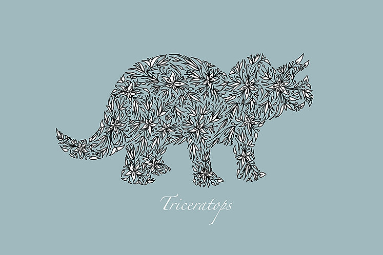 Triceratops (duck egg) by Lynn Selwyn-Reeves