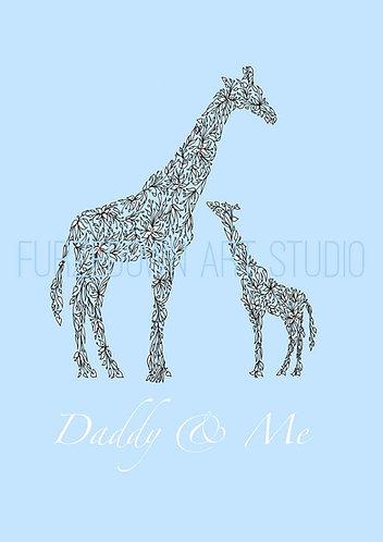 Blue giraffe print for children
