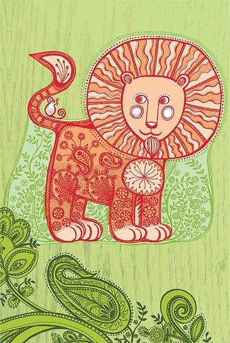 lion print for nurseries