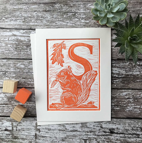 Initial Letter Print S (personalised) by The Mama Bjorn