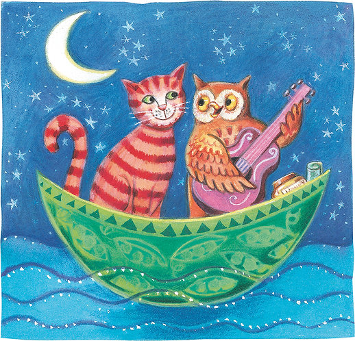 Owl and Pussycoat picture for children's rooms